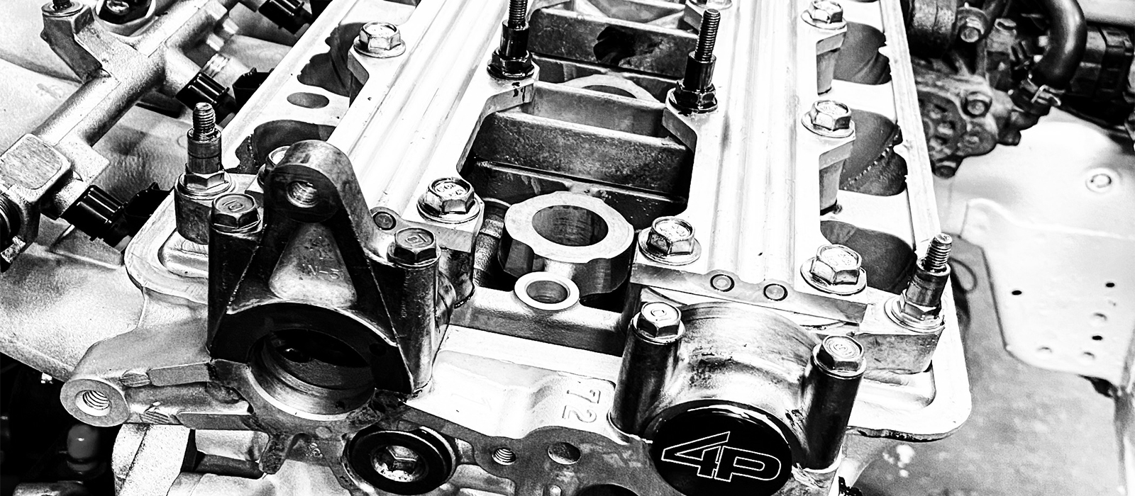 engine in black and white