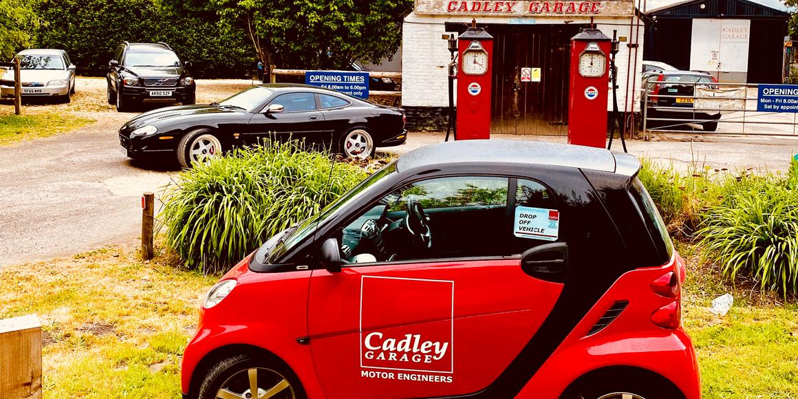 cadley garage and curtesy car